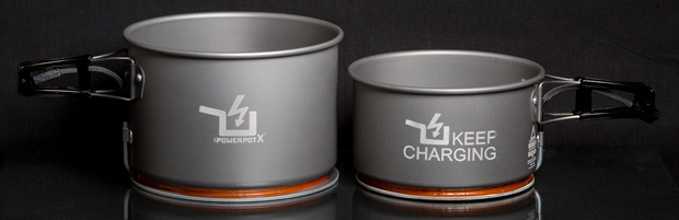 The PowerPot XL (left) and PowerPot X (right) add more power and more capacity to the PowerPot series.