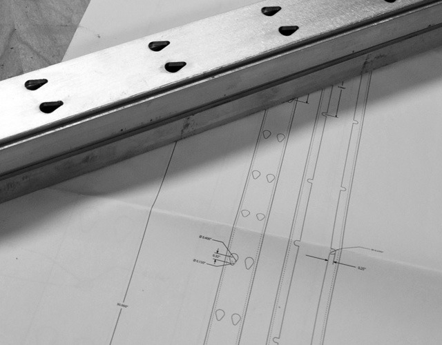 Early CNC cut wall rails