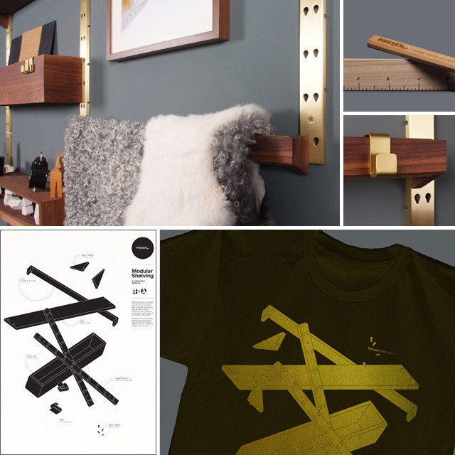 """Super Amelie"" Kit, (1) present wall rack + 3 extra rails + 1 extra bin, Limited T-shirt and poster in gold print, name on our WALL OF FAME and pen/pencil kit"