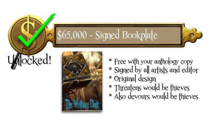 65k - Signed and Numbered Bookplate - Free for all Hardcopies of Anthology