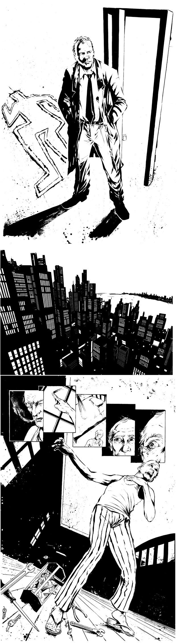 All 42 pages of The Locksmith issue #1 INKS ONLY! A kickstarter exclusive.