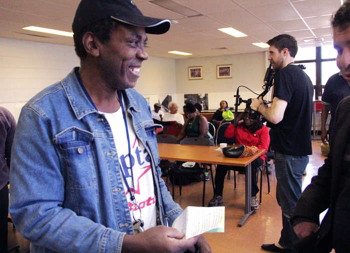 Lenny, a Brownsville local, recited a Brooklyn poem he wrote during the workshop at the recreation center.