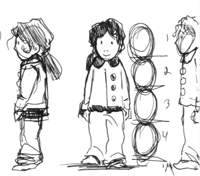 The very first sketches of Little Maia I drew back in 2011.