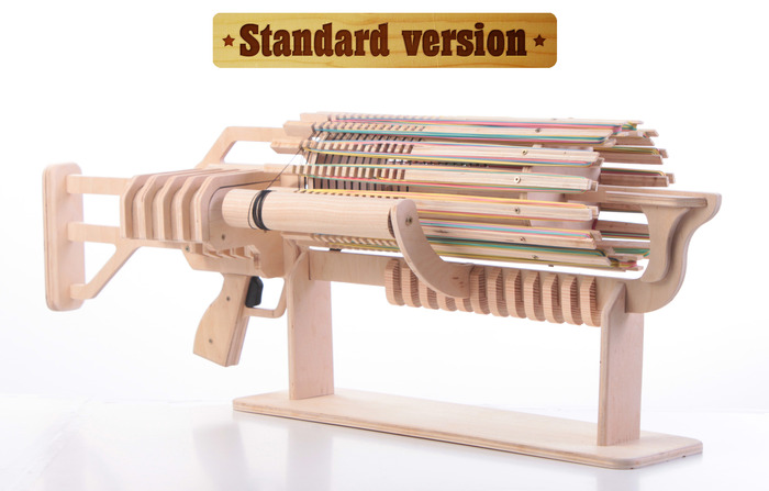 picture of Beautifully crafted machine gun for your office