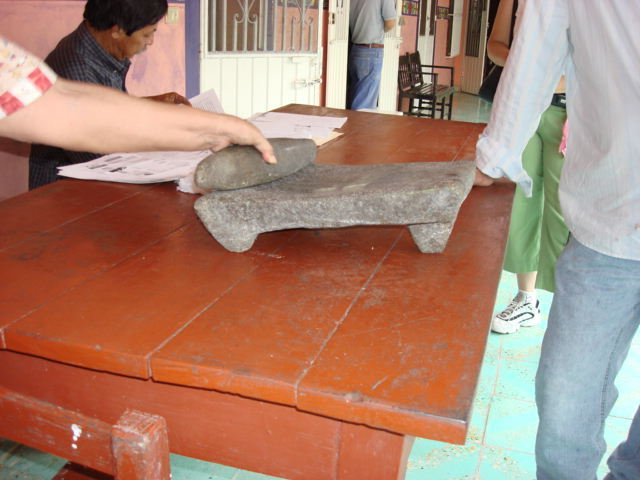Traditional Metate and Mano