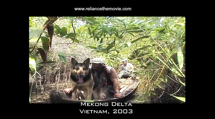 Matt & K9 Panzer Searching for MIA's in Vietnam, 2003