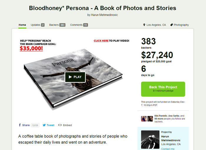 http://www.kickstarter.com/projects/harun/bloodhoney-persona-a-book-of-photos-and-stories