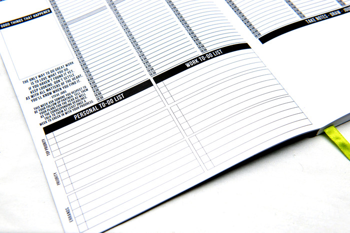 Dual to-do lists: One for personal tasks and the other for work tasks