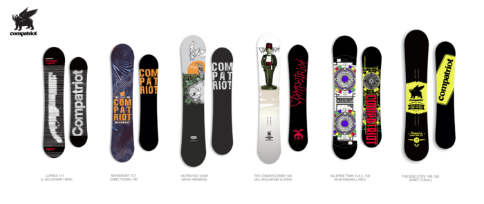 New Graphics for our next run of Compatriot Snowboards.