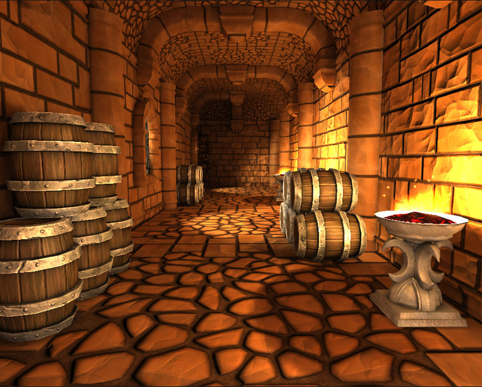 Keep barrels of money and goods secure in storage cellars