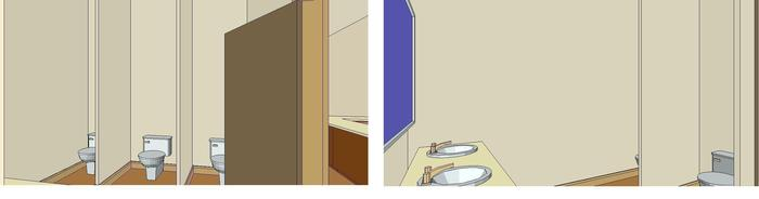 Brand-new expanded bathrooms, ADA-compliant