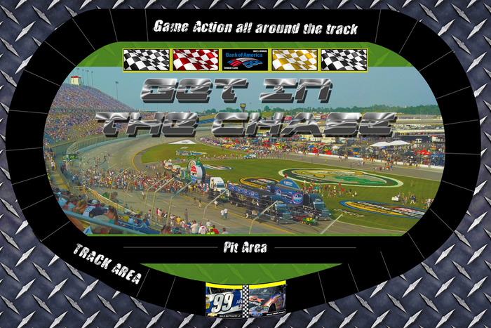 """Board Game Race Track """"Get in The Chase"""""""