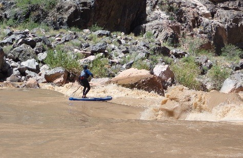 Going into the Horn Creek Rapid on the 2014 prototype