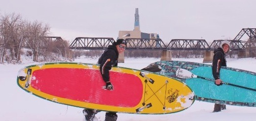 Our friends from Hardcore Paddleboards in Manitoba, Canada, tested our boards in some extreme temperatures
