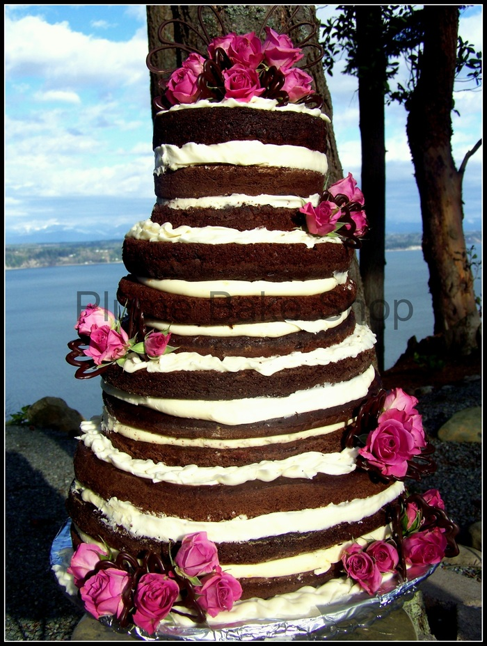 Vegan chocolate wedding cake