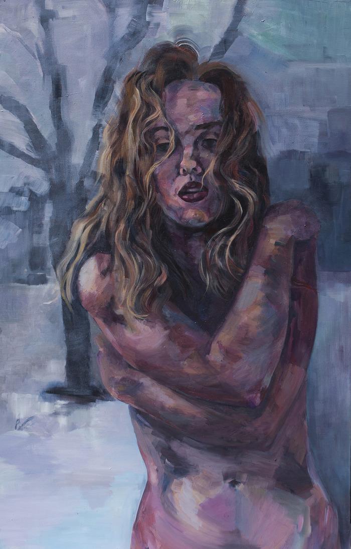 """Winter, Plucked"" (self portrait) 2013"
