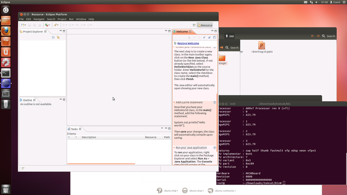 Programming with Eclipse on Ubuntu