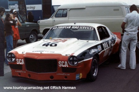 The Castrol / SCA Camaro driven by Frank Gardner