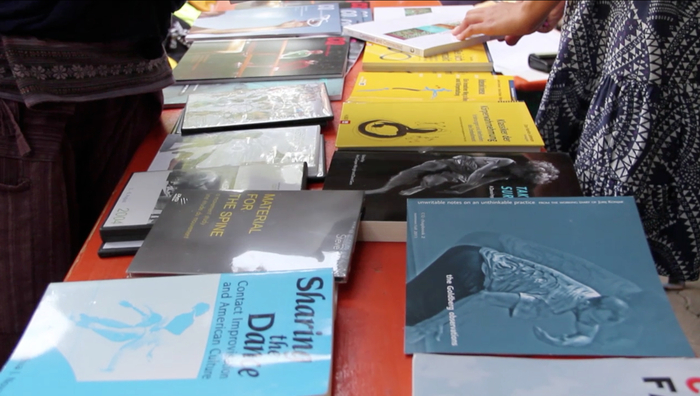 The resources table at the festival.
