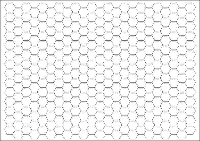 A4 Numbered Hex Pad By Peter Regan Kickstarter
