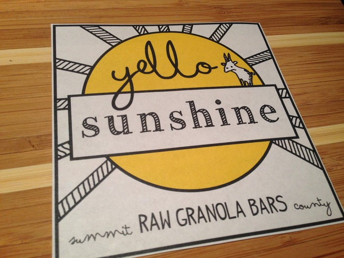 Yello Sunshine Granola Bars logo