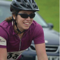 Ruth, still smiling after 70 miles