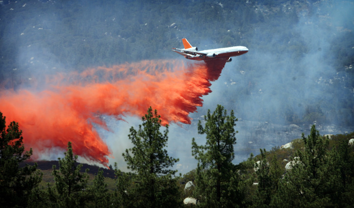 Aerial attack on the Mountain Fire.