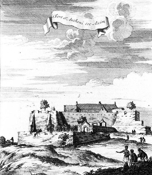 Fort Santo Antonio in Axim in 1709.