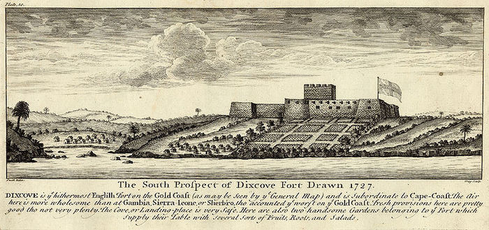 Fort Metal Cross in 1727