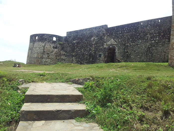 Fort Amsterdam is a fort in Kormantin, Central region, Ghana. It was built by the English between 1638 and 1645
