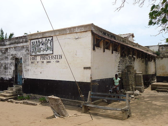 Fort Prinzenstein (Danish: Fort Prinsensten) is a fort located at Keta, Ghana which was used in the slave trade. It was initially built by Danish traders in 1784