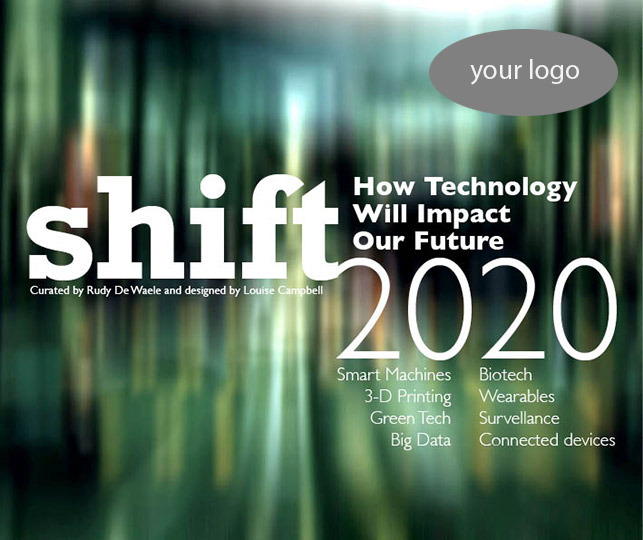 Personalise the cover of Shift 2020 with your company logo