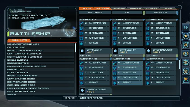 Ship Designer Interface