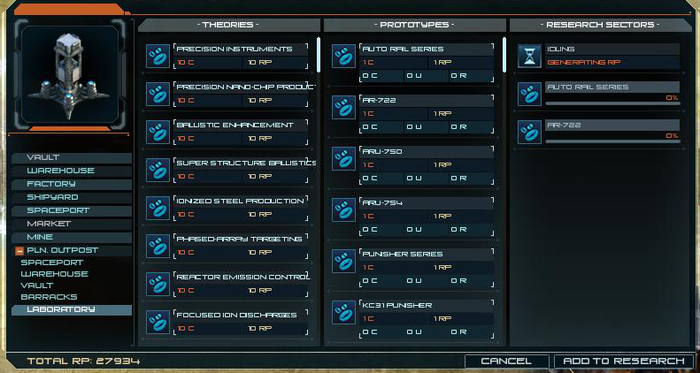 Research Sector Interface