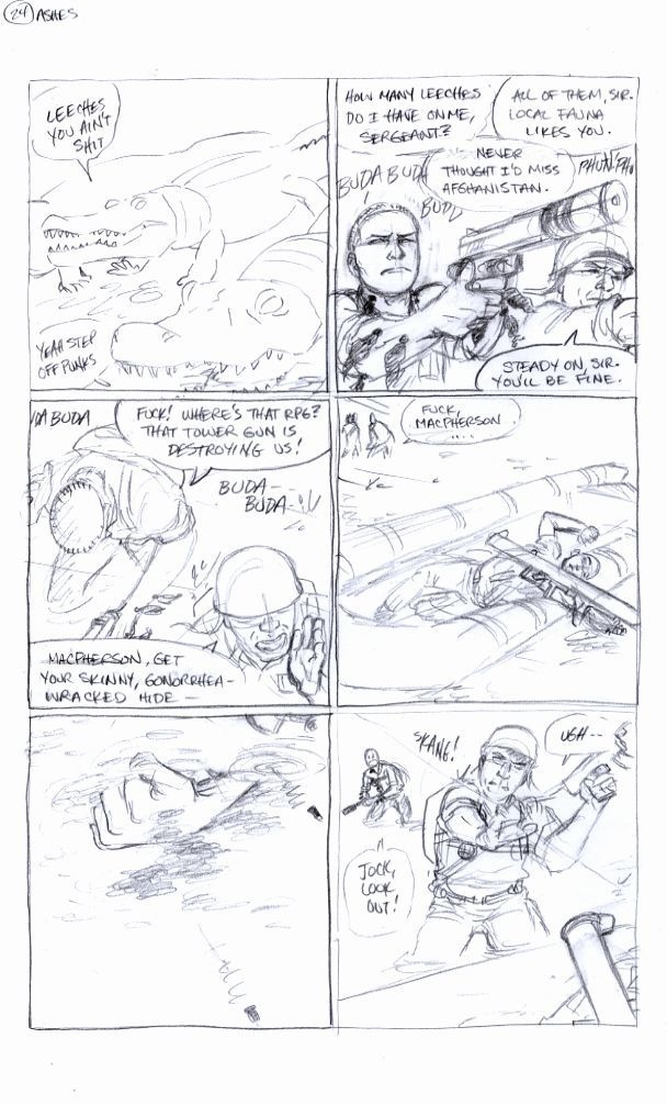 Ashes Page 24, Carla's Pencils