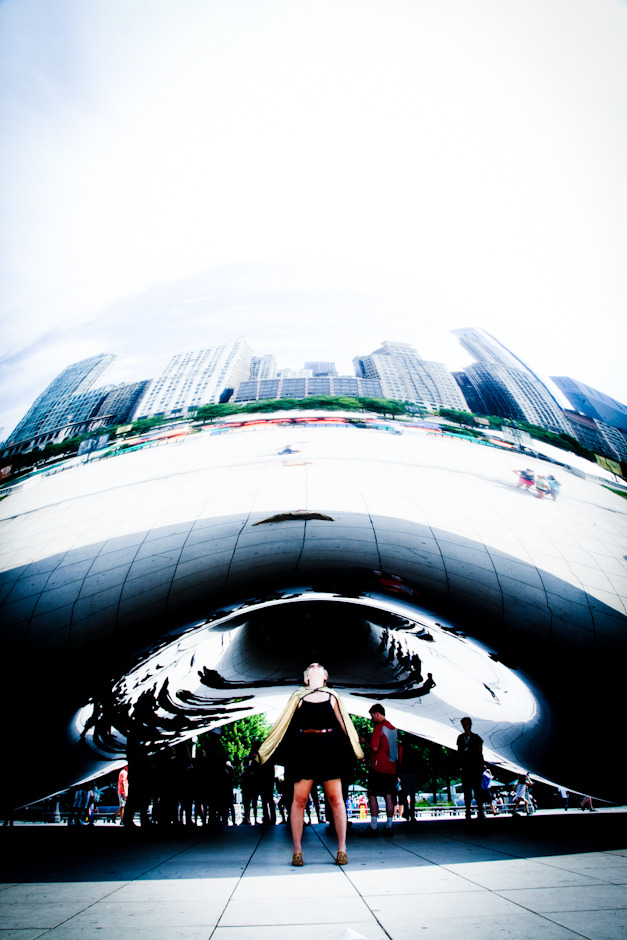 getting zapped into outer space at the bean in chicago !