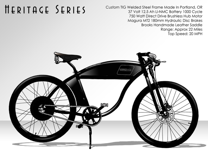 $3500 - Heritage Series 37V Electric Bike