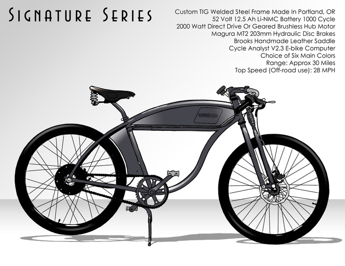 $4500 - Signature Series 52V Electric Bike