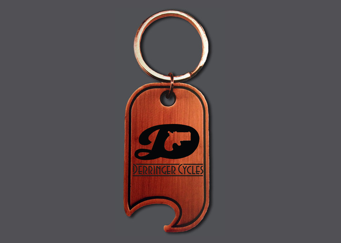 $15 - Derringer Bottle Opener Keychain in Antique Copper