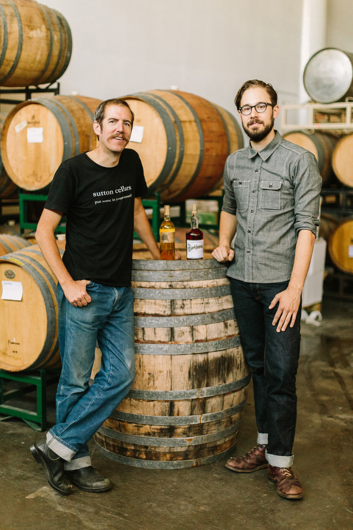 Carl Sutton of Sutton Cellars and Rob Easter of Workhorse Rye
