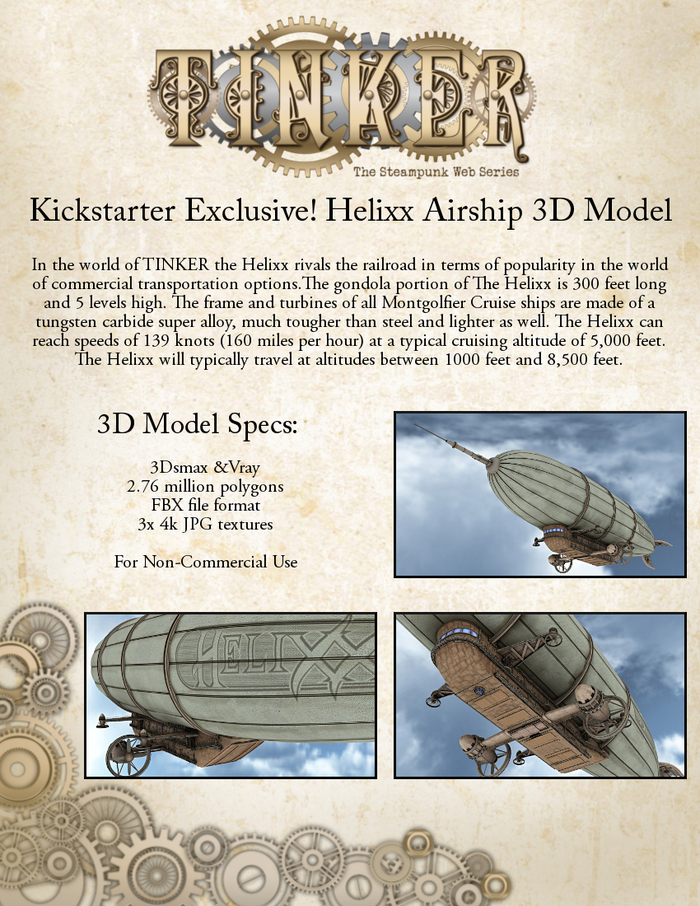 HELIXX AIRSHIP 3D MODEL PACKAGE