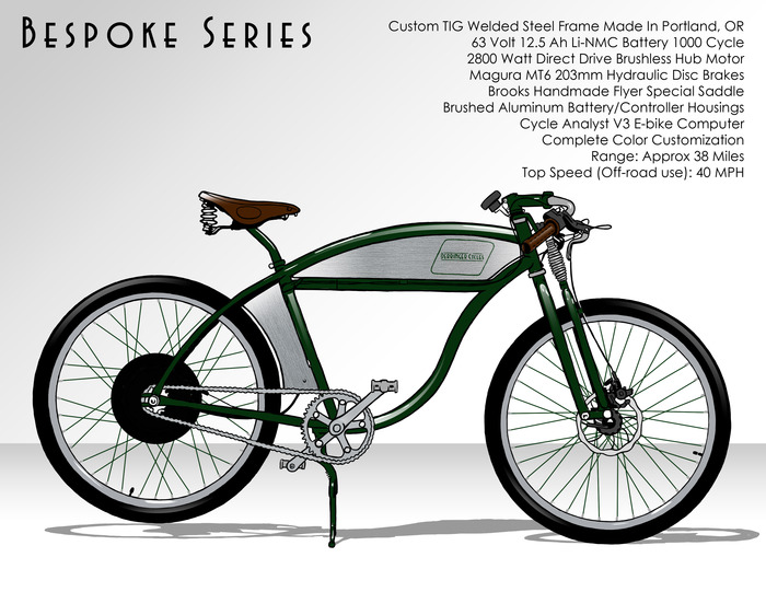 $6500 - Bespoke Series 63V Electric Bike