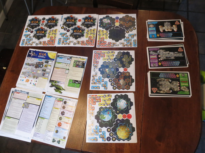 HQ Prints - Punchboards, Ship Mats, Rulebook