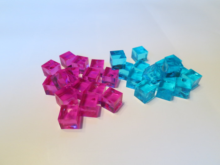 Cargo cubes - Pink & Blue are perfect! Super vibrant!