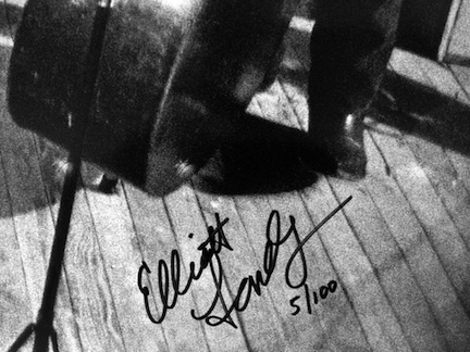 Capitol Records Promotional Poster.  Signature close-up.