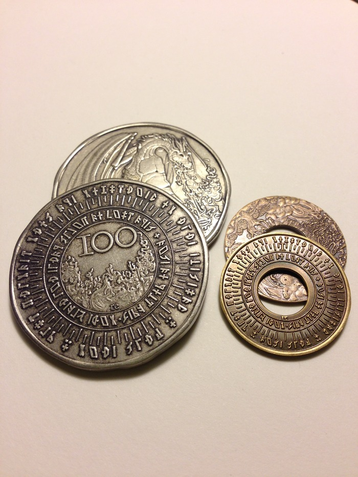 Fire 100 Denom and Time 1 Denom Obverse Side