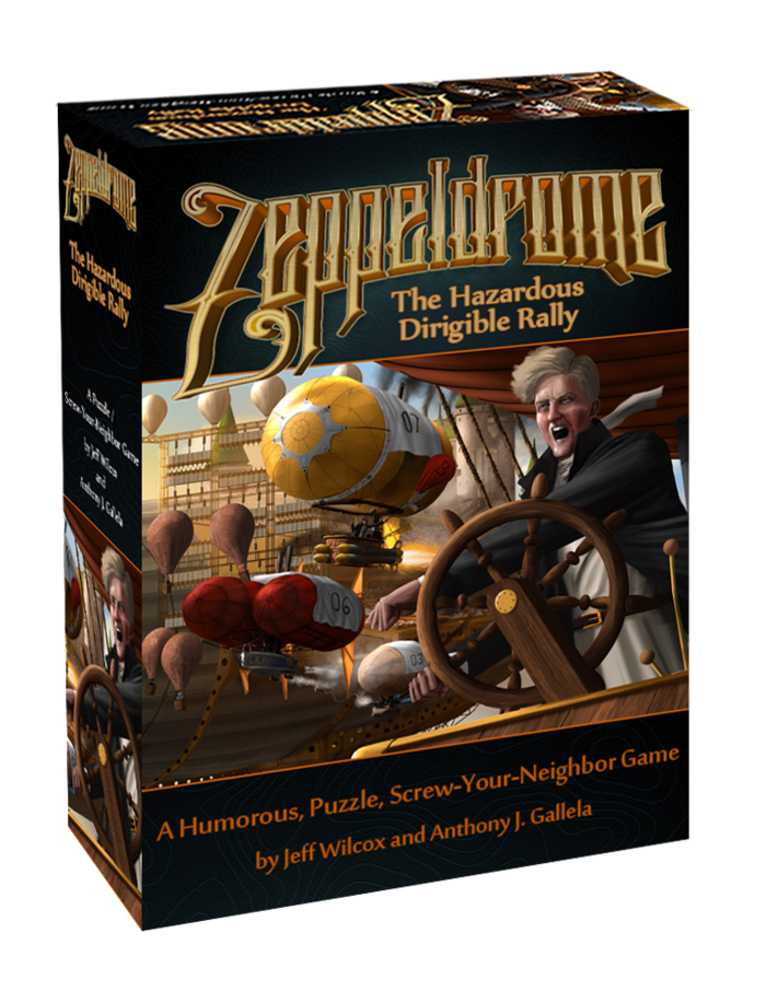 """Zeppeldrome"" will be $35 MSRP if we just have tokens in the game, $39 if we have 3D bits. We're offering it to you, our backers, for $29."