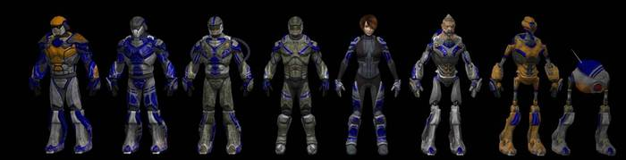 Human RTS and FPS characters