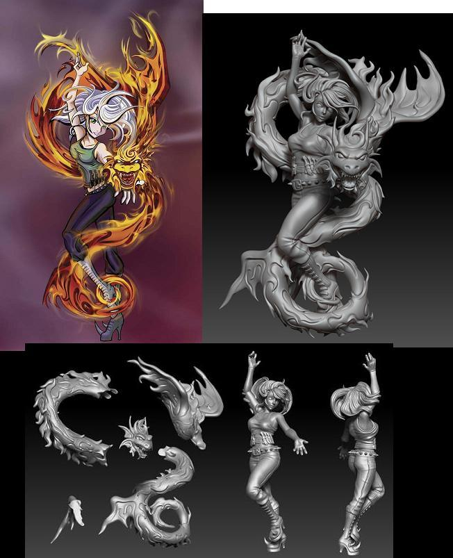 Artwork by Valerie A Ryan.  3-D Sculpted by Hector (Hec) Moran.
