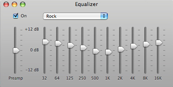 Graphic equalizer example for sound customization